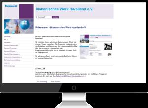 Diakonie Rathenow Webdesign