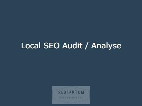 Local SEO Audit Analyse