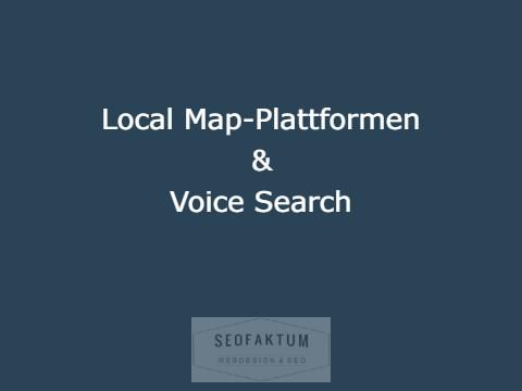 Local SEO Maps & Voice Search